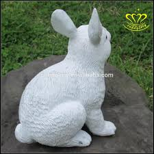 resin animal figurine the rabbit fiberglass sculpture for home
