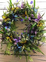 butterfly wreath for front door spring wreath summer wreath