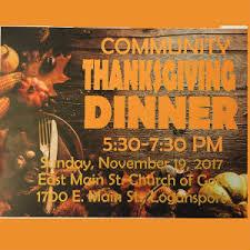 community thanksgiving dinner cass county calendar