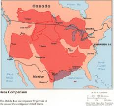 map size comparison how big is the middle east cartographia
