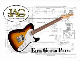 fender telecaster thinline luthiers plans full sized