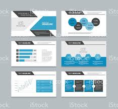 abstract page presentation template with info graphic elements