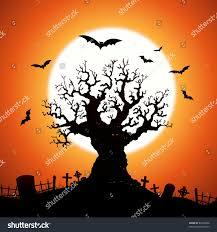 halloween trees halloween tree illustration halloween frightening wicked stock