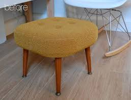 before u0026 after reupholstered foot stool u2013 design sponge