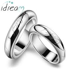 wedding bands for couples lotr laser engraved wedding bands for men and women lord