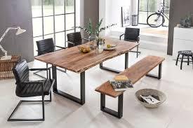 Esstisch Queens Tisch Esszimmer Akazie Tisch Manhattan Akazienholz Kufengestell Schwarz Von Massiv