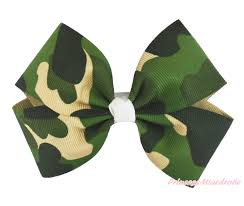 camouflage ribbon s day pink ribbon bow hair clip h1012