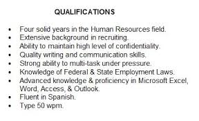 Types Of Skills Resume Summary Of Qualifications How To Describe Yourself On Your Resume
