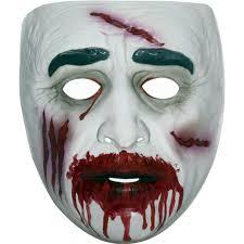 amazon com transparent bloody zombie mask clothing