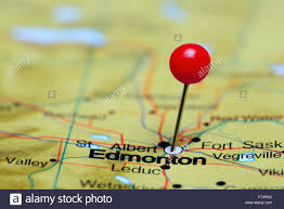 A Map Of Canada by Edmonton Pinned On A Map Of Canada Stock Photo Royalty Free Image