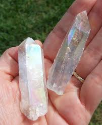 aura crystals man made crystal stuffs orgonite andara auras hibiscus moon