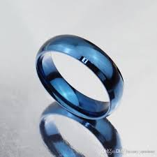 simple mens wedding bands simple design classic wedding rings blue black gold filled