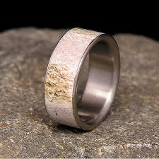 antler wedding ring titanium deer antler wedding band or ring by holzringshop on etsy