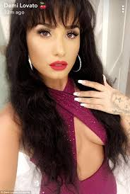 selena quintanilla purple jumpsuit 9news com demi lovato shows plenty of cleavage in spot on selena