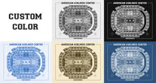American Airlines Arena Floor Plan by Vintage Print Of American Airlines Center Seating Chart On Premium