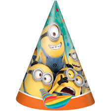 birthday hats despicable me minions party hats 8ct walmart