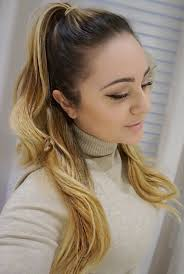 pony hair 40 easy and chic half ponytails for wavy and curly hair