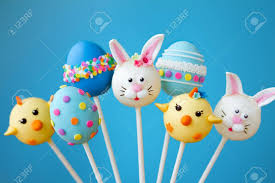 easter cakepops easter cake pops stock photo picture and royalty free image