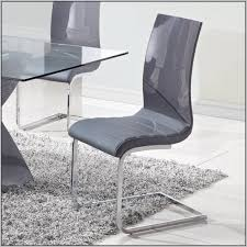 Grey Leather Dining Chair Grey Leather Dining Chairs With Chrome Legs Chairs Home