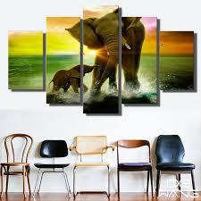 chambre de d馗ompression hd imprimé éléphant et éléphant toile imprimer chambre décor d