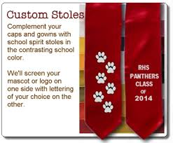 custom graduation sashes custom graduation stoles class of 2016 stoles senior class