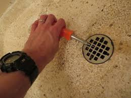 unclog a shower drain with pvc and an inner tube