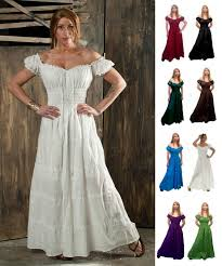 wedding dress costume renaissance dress cotton costume pirate boho peasant