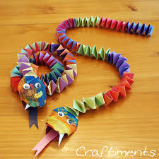 craftiments chinese new year snake craft