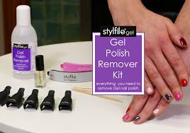how to remove gel nail polish with stylfile gel kit youtube