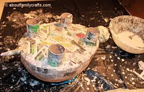 How To Make Paper Mache Belly Cast - paper mache patchwork turtle about family crafts