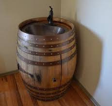 Wine Barrel Vanity Hand Made Wine Barrel Gifts