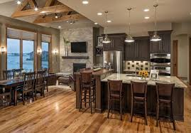 Rustic Modern Lake House Transitional Kitchen Omaha by
