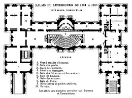 french chateau floor plans file palais du luxembourg plan 1804 u20131836 hustin 1904 p20