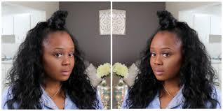 half up half down top knot on short hair samra half wig youtube