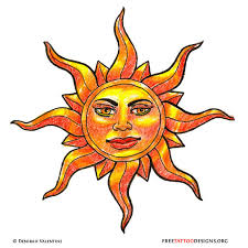 65 sun tattoos tribal sun tattoo designs celestial sun moon