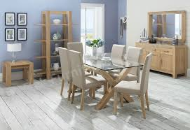 Glass Dining Table With 6 Chairs Glass Dining Room Furniture Endearing Decor Oak Dining Room Table