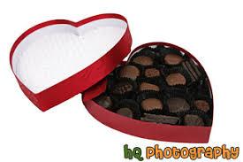 chocolate heart box photos of chocolates in heart box