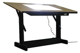 Light Drafting Table Lightbox Tir Nan Og Lines Spaces Regarding Awesome Drafting Table