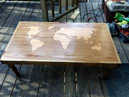 World Map On Wood Planks by World Map Coffee Table U2013 Artless