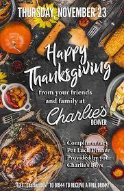 proudout thanksgiving pot luck dinner