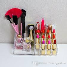 usa stock 16 grid trapezoid cosmetic clear stand makeup lipsticks