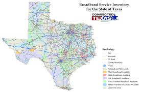 Map Of The State Of Texas Texas Internet Access Maps Launched Online To Show Where Service