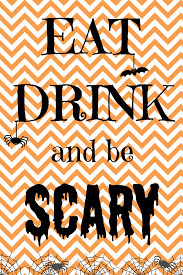 free halloween printable eat drink and be scary sign my shirt