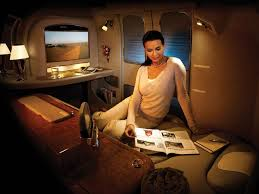 Comfort On Long Flights Enjoy The Comfort And Privacy Of First Class On Emirates Long Haul