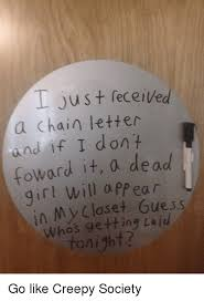 photo collection todays horror chain letter