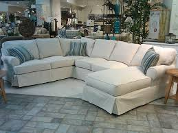 White Slipcover Couch Awesome Slipcovers For Sectional Couches Homesfeed