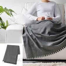 sofaã berwurf grau ikea plaid tagesdecke kuscheldecke fleecedecke decke überwurf grau
