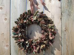 image detail for primitive christmas rag wreath homespun fabric