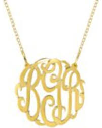 large monogram necklace amazing deal on large monogram necklace in 24k yellow gold