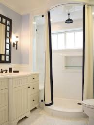 Bathrooms With White Cabinets White Shower Curtain Houzz